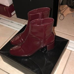 Forever 21 Burgundy Booties